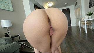 Cute Holly Hendrix sucks on a  huge cock.