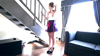 Beautiful young babysitter rides her boss' dick