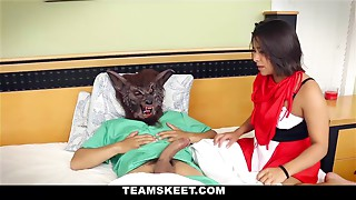 Little Red Riding Hood fucks the Big Bad Wolf