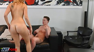 Leggy blonde beauty getting ruthlessly fucked